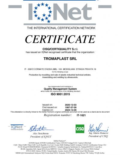 Certificazioni Tromaplast